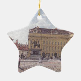The Josef square in Vienna by Rudolf von Alt Ceramic Star Decoration