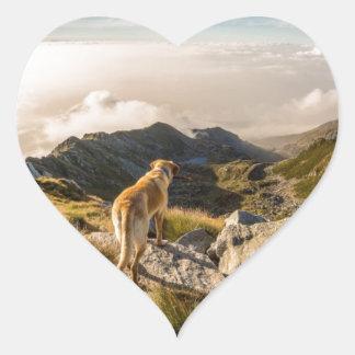 The journey heart sticker