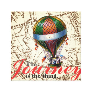 The Journey Hot Air Balloon Zodiac Background Canvas Print