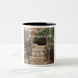 The Journey of a Thousand Miles Coffee Cup Two-Tone Mug