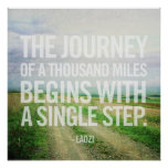 The Journey of A Thousand Miles Poster