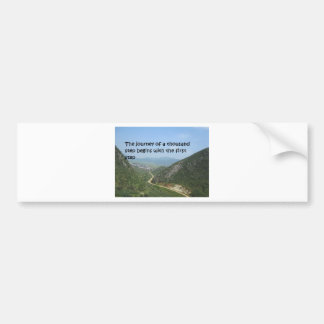 The journey of a thousand step bumper sticker