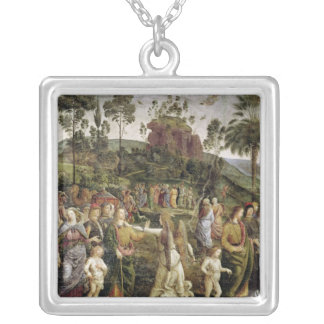 The Journey of Moses, c.1481-83 Silver Plated Necklace