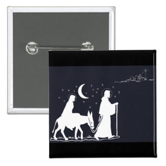 The Journey To Bethlehem 15 Cm Square Badge
