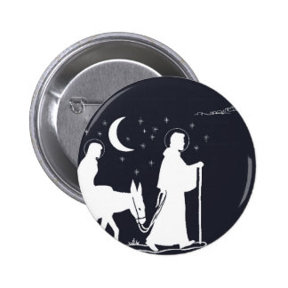 The Journey To Bethlehem 6 Cm Round Badge