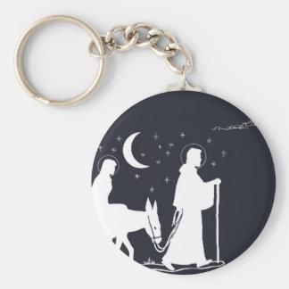 The Journey To Bethlehem Basic Round Button Key Ring