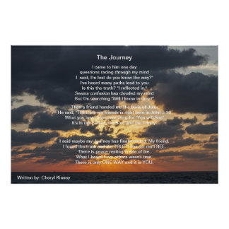 The Journey.. Written by:  Cheryl Kinney Poster