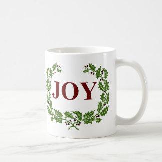 THE JOY OF CHRISTMAS HOLLY AND BERRIES WRATH BASIC WHITE MUG