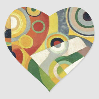The Joy of Life by Robert Delaunay Heart Sticker