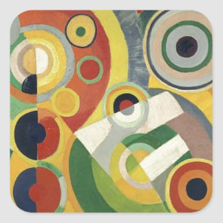 The Joy of Life by Robert Delaunay Square Sticker