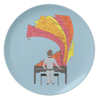 The joy of playing piano party plate