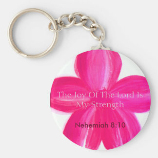 The Joy of the Lord is My Strength keychain