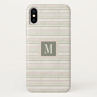 The Joy of White | Watercolor Stripes Pattern iPhone X Case
