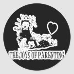 The Joys Of Parenting Round Sticker