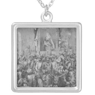 The Jubilee in the East- An Allegory, 1887 Silver Plated Necklace