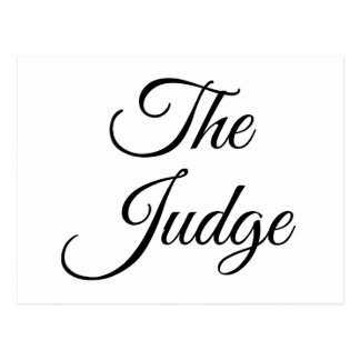 The Judge Postcard