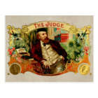 The Judge Vintage Cigar Box Label Postcard