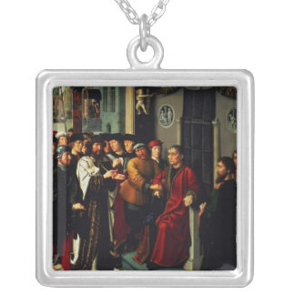 The Judgement of Cambyses, 1498 Silver Plated Necklace