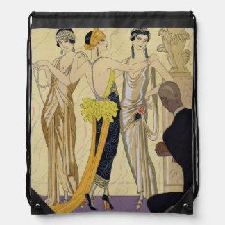 The Judgement of Paris, 1920-30 (pochoir print) Drawstring Bag