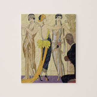 The Judgement of Paris, 1920-30 (pochoir print) Jigsaw Puzzle