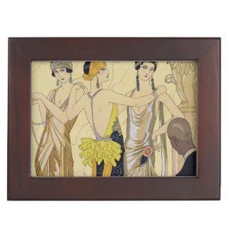 The Judgement of Paris, 1920-30 (pochoir print) Keepsake Box