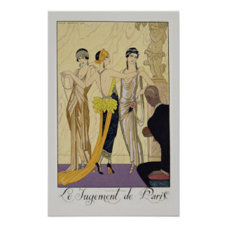 The Judgement of Paris, 1920-30 (pochoir print) Poster