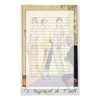The Judgement of Paris, 1920-30 (pochoir print) Stationery