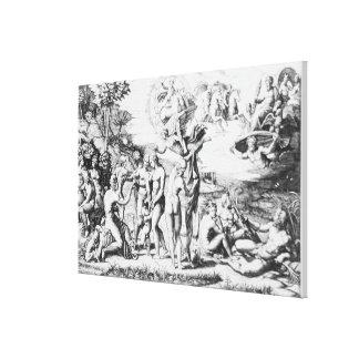 The Judgement of Paris, after Raphael (engraving) Canvas Print