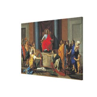 The Judgement of Solomon, 1649 Canvas Print