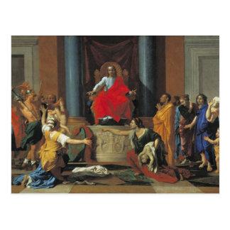 The Judgement of Solomon, 1649 Postcard