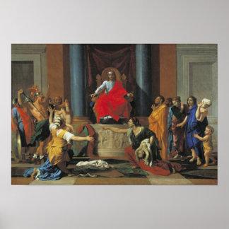 The Judgement of Solomon, 1649 Poster