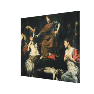 The Judgement of Solomon Stretched Canvas Prints