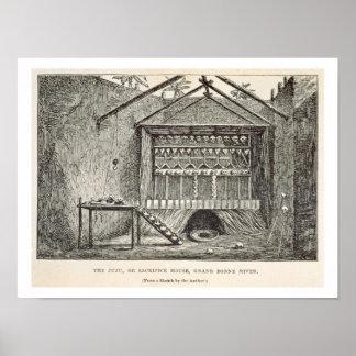 The Juju, or Sacrifice House, Grand Bonny River, f Poster