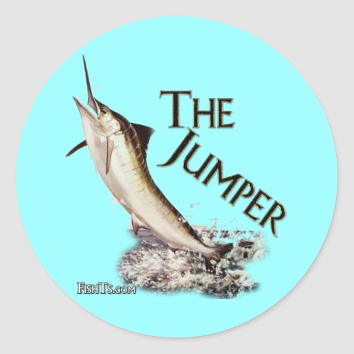 The Jumper-Marlin Breaking the surface Round Sticker
