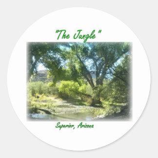 The Jungle at Superior, Arizona Round Stickers
