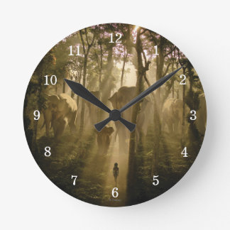 The Jungle Book Elephants Round Clock