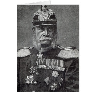 The Kaiser Wilhelm, from 'Leisure Hour', 1888 Card