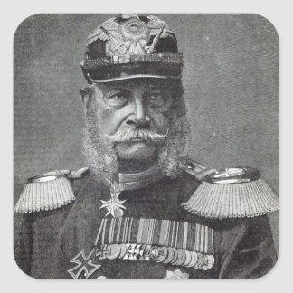 The Kaiser Wilhelm, from 'Leisure Hour', 1888 Square Sticker