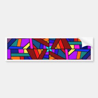 THE KALEIDOSCOPE EFFECT  (pattern design) ~ Bumper Stickers