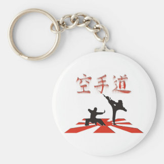 The Karate Perspective Basic Round Button Key Ring