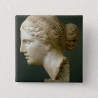 The Kauffmann Head, Roman (marble) 15 Cm Square Badge