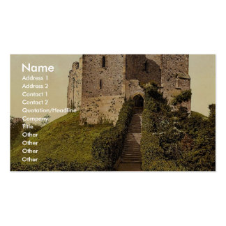 The Keep Arundel Castle England vintage Photochr Business Cards