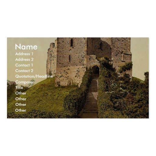 The Keep, Arundel Castle, England vintage Photochr Business Cards