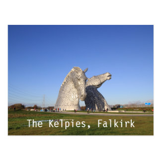The Kelpies, Falkirk, postcard