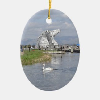 the Kelpies , Helix Park , Falkirk Christmas Ornament