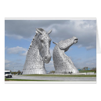 the Kelpies ,  Helix Park , Falkirk , Scotland Card