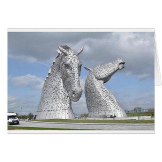 the Kelpies ,  Helix Park , Falkirk , Scotland Card