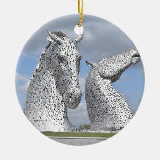 the Kelpies ,  Helix Park , Falkirk , Scotland Christmas Ornament