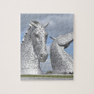 the Kelpies ,  Helix Park , Falkirk , Scotland Jigsaw Puzzle
