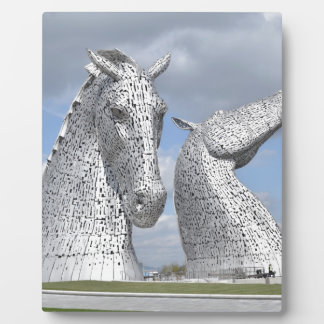 the Kelpies ,  Helix Park , Falkirk , Scotland Plaque